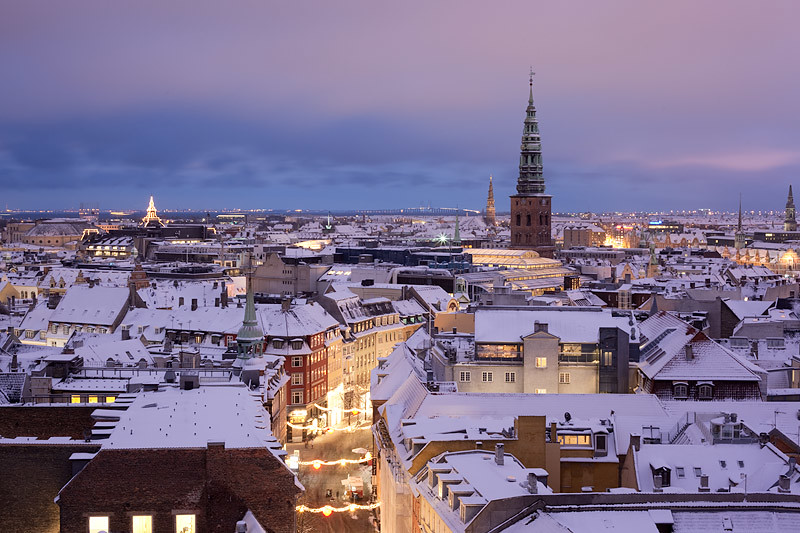 Copenhagen Covered In Snow Winter Has Come Early And