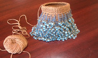 Flapper Purse in Silk and Blue | by Aberrant Crochet & Pixie Worx!