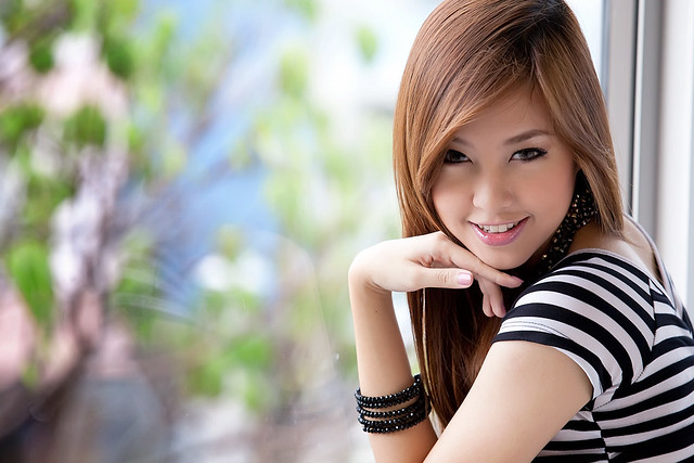beautiful thai girl portrait photoshop woman fashion