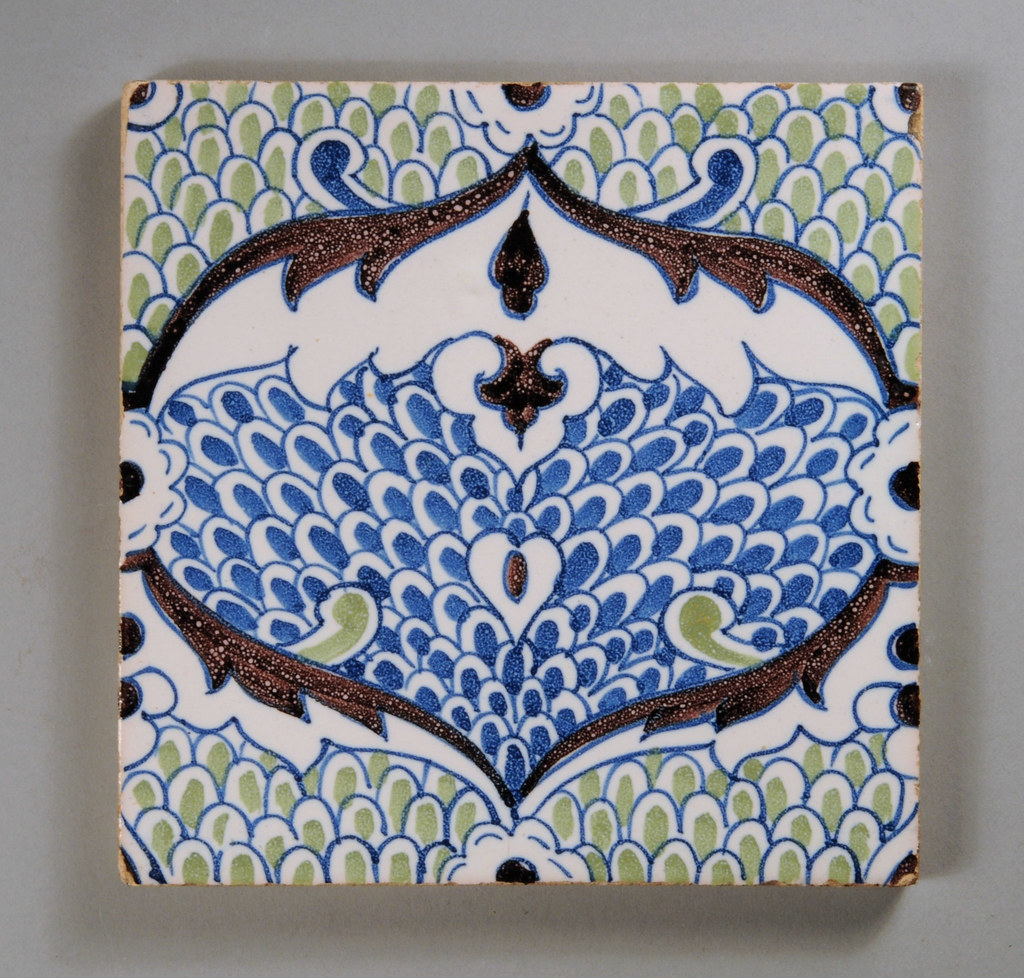 Persian scale dutch arts and crafts tile one of the for Arts crafts tiles