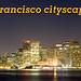 San Francisco cityscape night panorama view