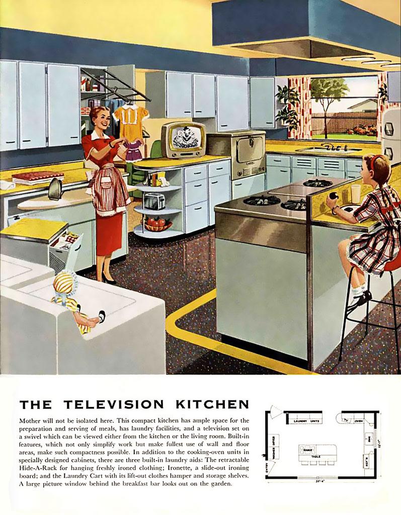 Retro Style Kitchen Bins