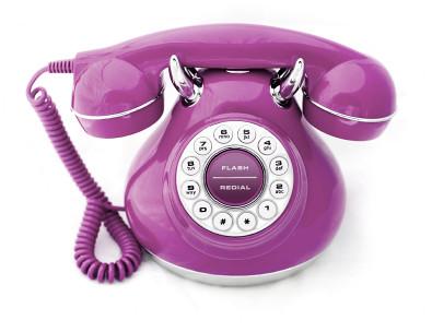 Purple Vintage Phone Purple Vintage Phone