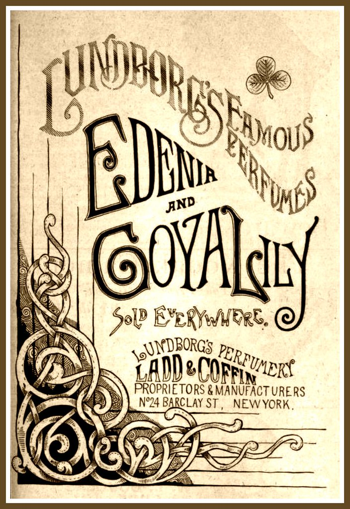 Vintage Victorian Advert For Lundborg S Edenia Amp Goya Lily