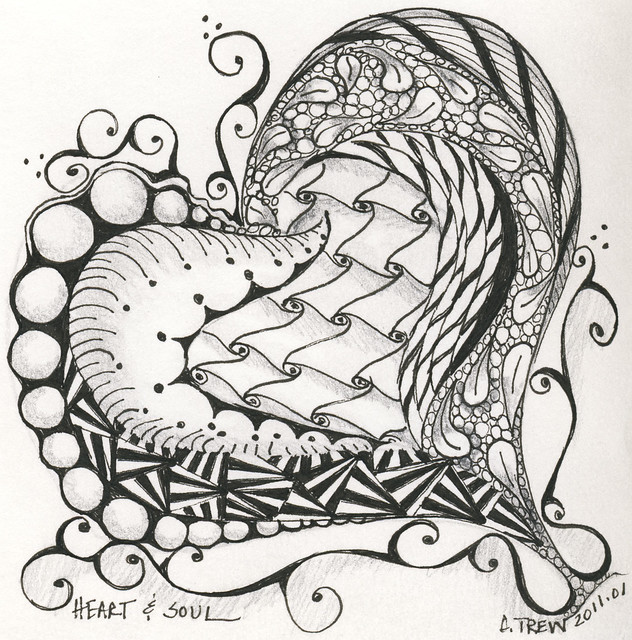 Zentangle heart and soul flickr photo sharing Zen coloring book for adults app
