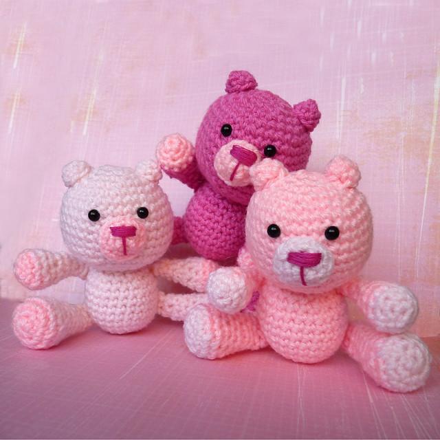 Amigurumi Pink Bear : Amigurumi Pink Bears Flickr - Photo Sharing!