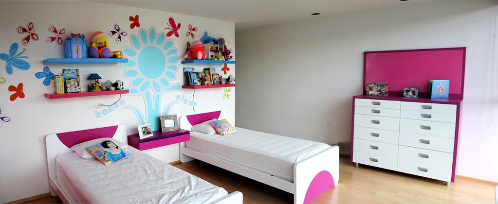 Dise o de habitaciones cuarto para ni as ambientacion for Vinilos para habitaciones de ninas