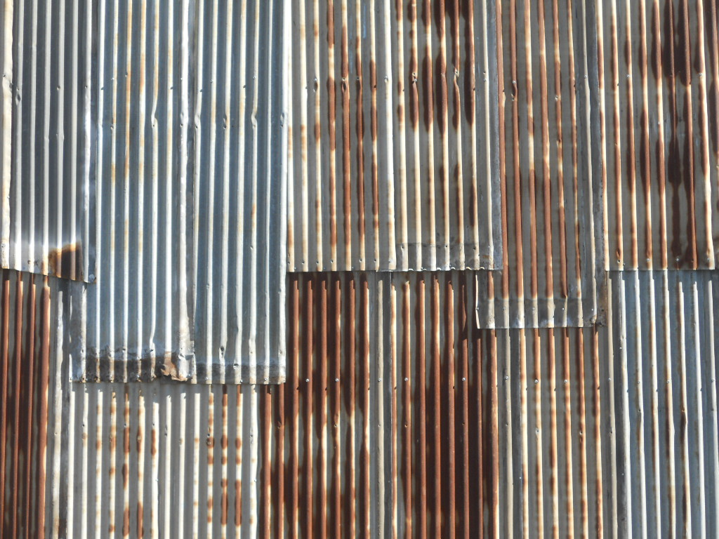 Painting New Corrugated Metal