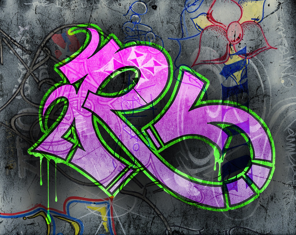 Graffiti R Combination Of Hand Drawn And Digital