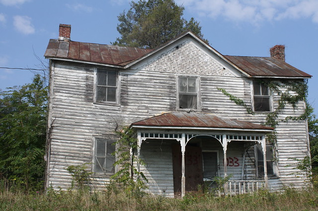 Condemned house somewhere in Virginia
