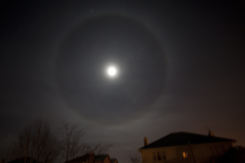 ring around the moon looks like a lens artefact