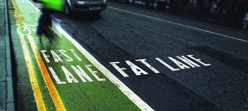 Fast Lane By Bike Fat Lane By Car Graphic By Www
