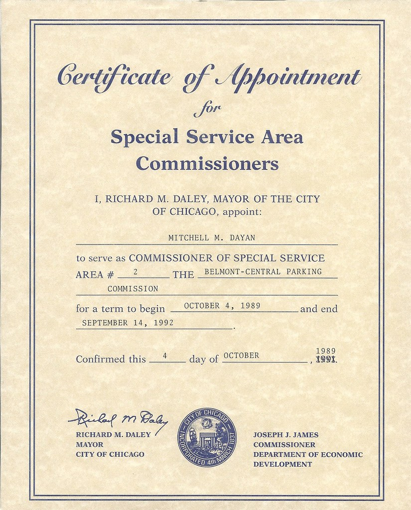 appointment certificate correction