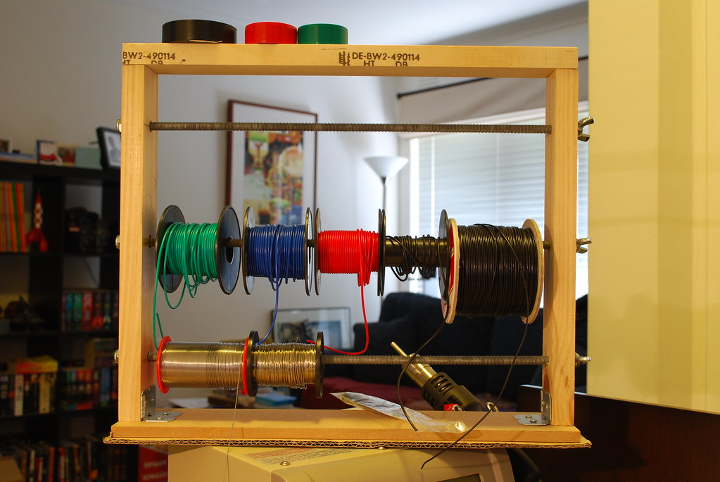 Cable Wire Spool Holder Put Together A Basic Wire Spool