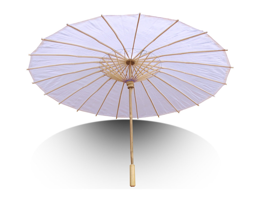white parasol chinese umbrella parasols are made out of flickr. Black Bedroom Furniture Sets. Home Design Ideas