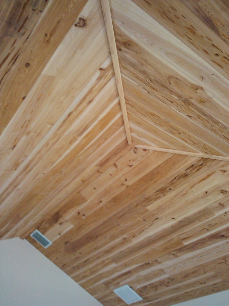 Pecky Cypress Tongue And Groove Vaulted Ceiling