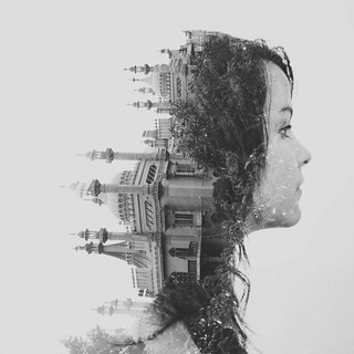 Double exposure // Val // Royal Pavilion, Brighton | by •DΛN MOUNTFORD•
