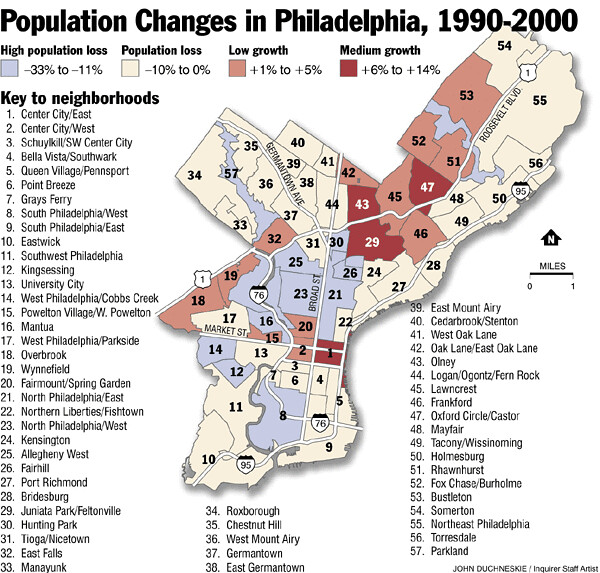 Philly Neighborhood Map  Tom Ferrick  Flickr