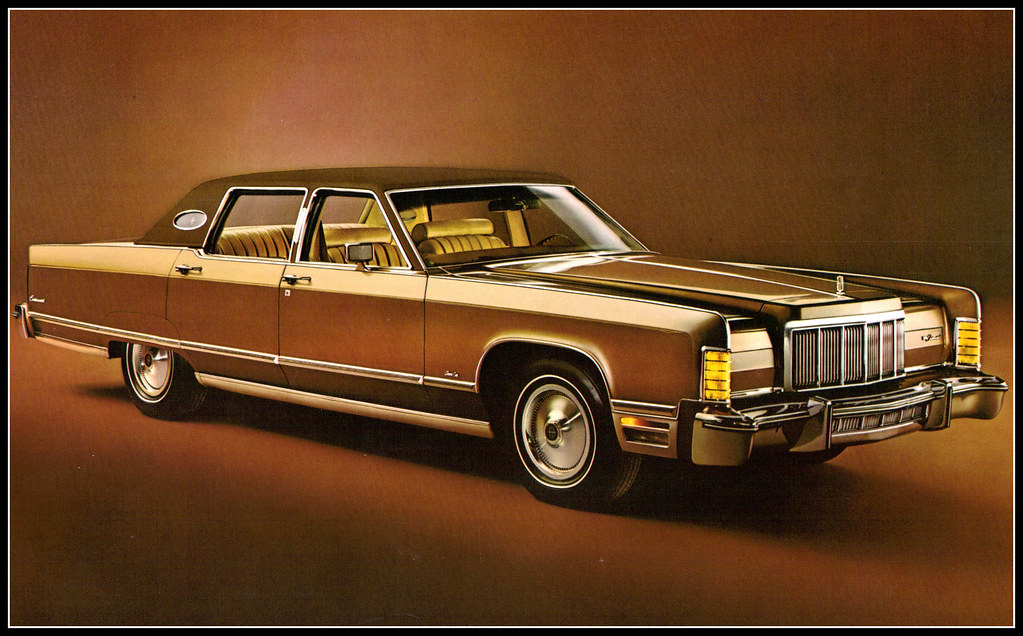 1976 Lincoln Continental Town Car In Light Ginger Diamond