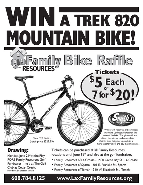 Family Resources 2010 Bike Raffle Flyer Designed By The