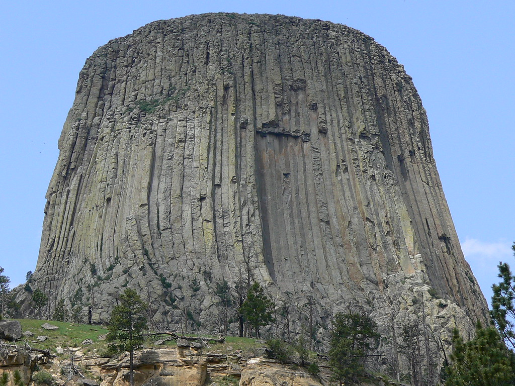 Devils Tower Wy >> Devil's Tower rock formation Wyoming WY as seen on Close E ...