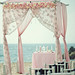 Glamorous Beach Wedding-Ceremony Chuppah