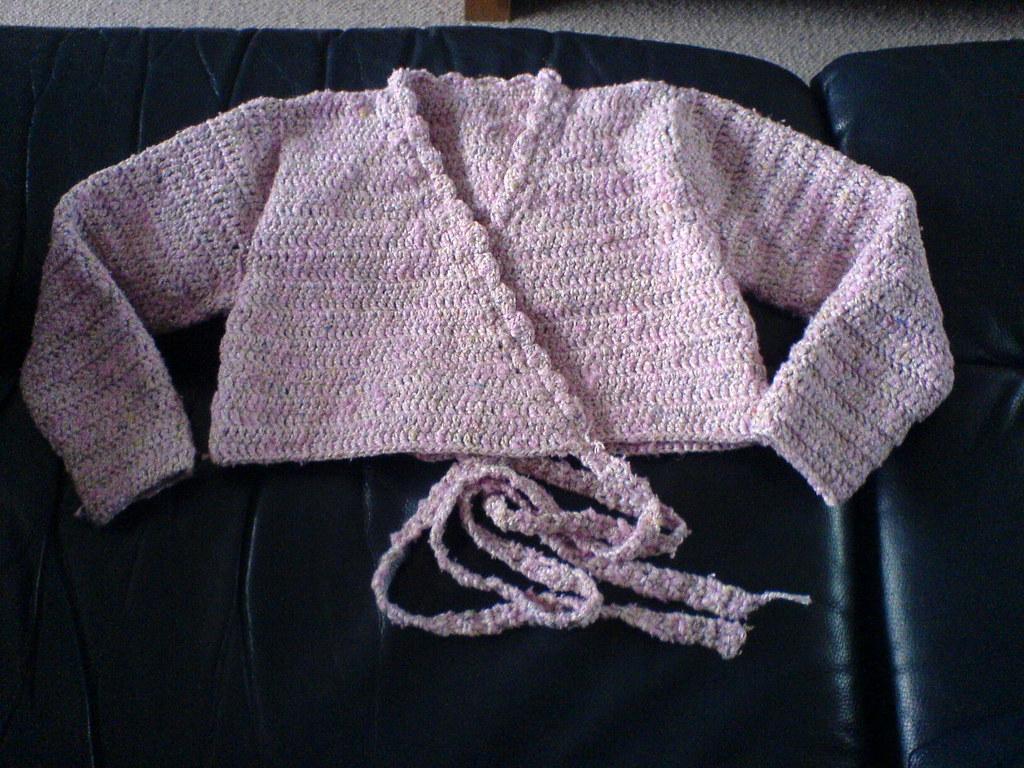 Free Crochet Pattern Ballet Wrap : crochet ballet cardigan for Olivia from a pattern in ...
