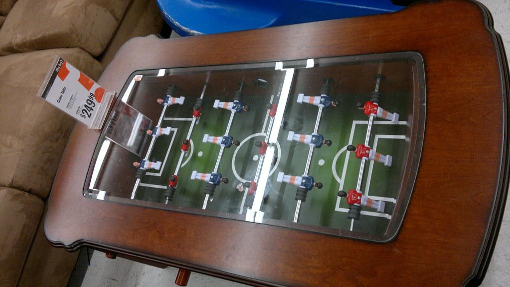 Foosball coffee table big lots