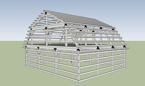 Gambrel Barn Frame Barn Geek Flickr