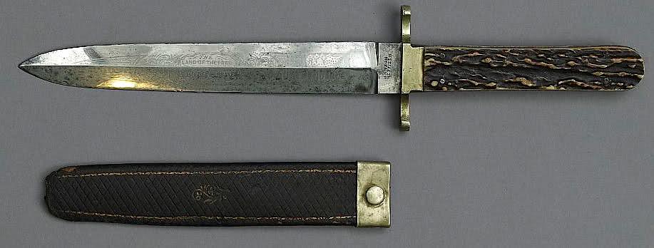 John Wilkes Booth Dagger Knife And Sheath Horn Handled Da Flickr