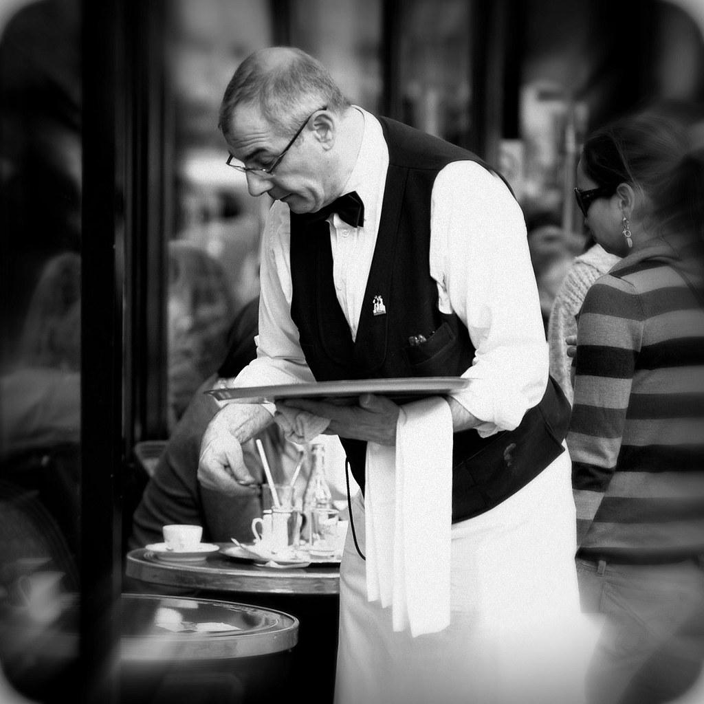 Garcon De Cafe Paris Photo