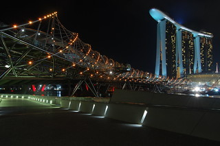 Marina Bay Sands and Helix Bridge | by edwin.11