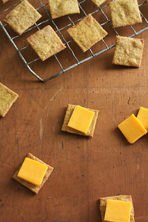 Homemade Wheat Thin Crackers | by Xiaolu // 6 Bittersweets