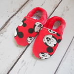 Red Mouse OBV 18-24  months soft sole shoes 6""