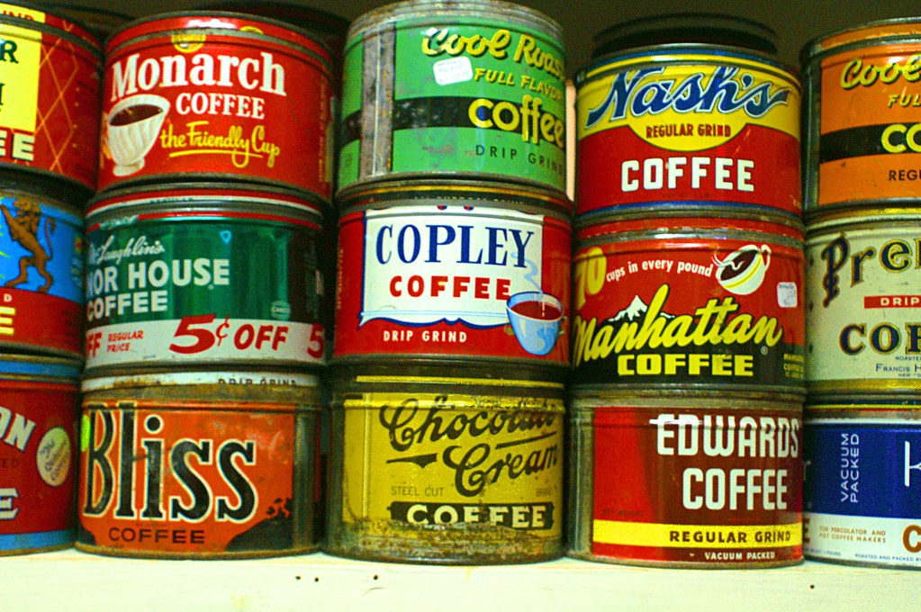 Coffee Cans In Antique Store Mt Vernon Iowa Of All