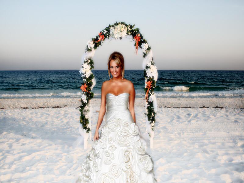 Custom Carrie Underwood Wedding Gown Beach Carrie