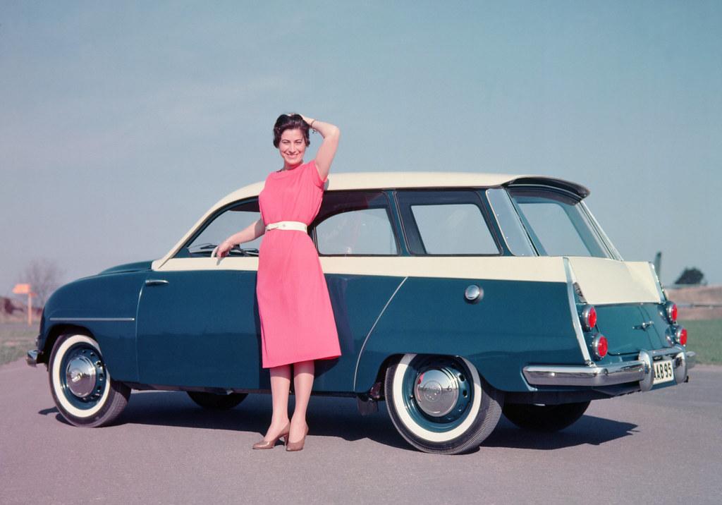 1959 saab 95 station wagon general motors press photo copy flickr. Black Bedroom Furniture Sets. Home Design Ideas