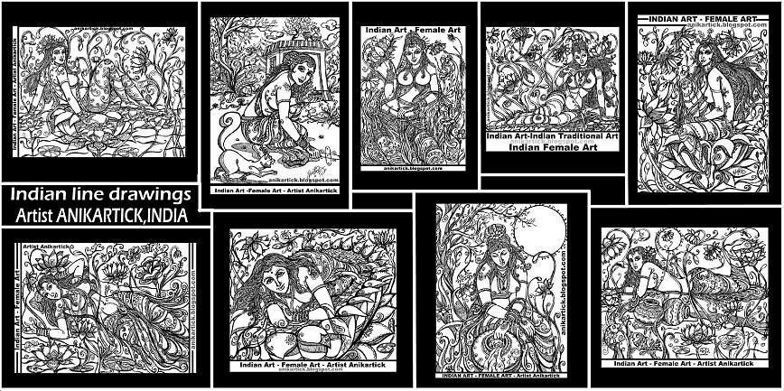art works in line drawings artist anikartick chennai tam flickr. Black Bedroom Furniture Sets. Home Design Ideas