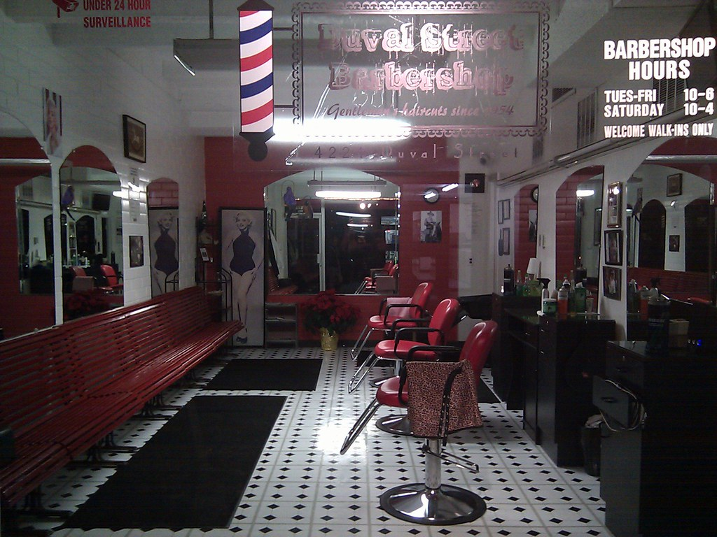 Empty barber shop This was taken in Austin TX on 45th & Du ...