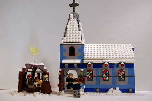 Lego Winter Village Church And Nativity Scene Flickr