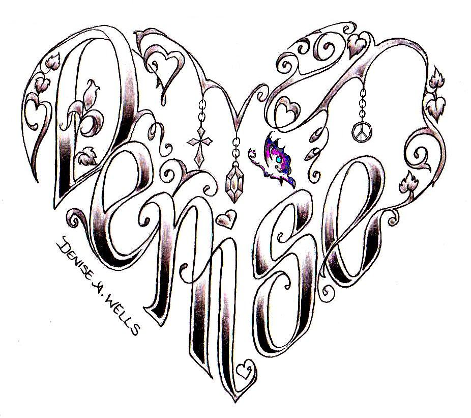 Denise Tattoo Design By Denise A. Wells