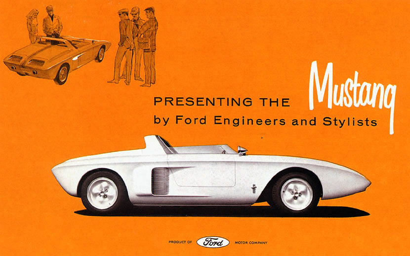 1962 Ford Mustang I Concept Car Brochure Usa Covers