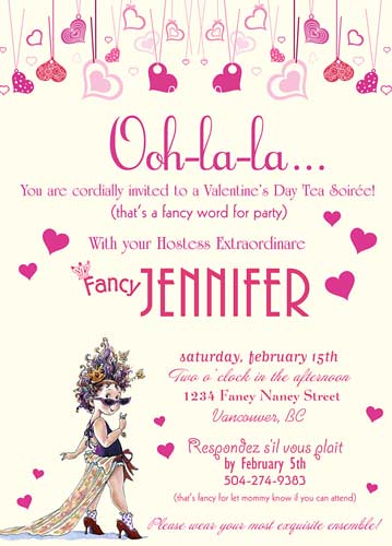 Fancy Nancy Custom Valentine Invitation Wwwartfirecom