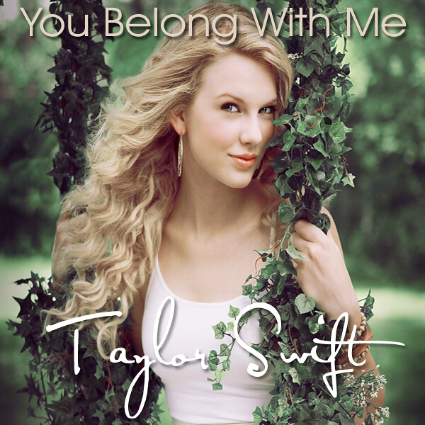 Taylor Swift You Belong With Me Single Cover ...