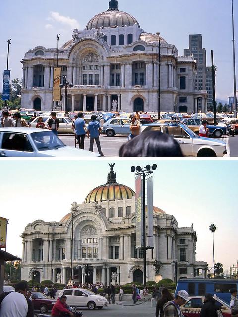 Used Car App >> Antes y después - Palacio de Bellas Artes, Ciudad de ...