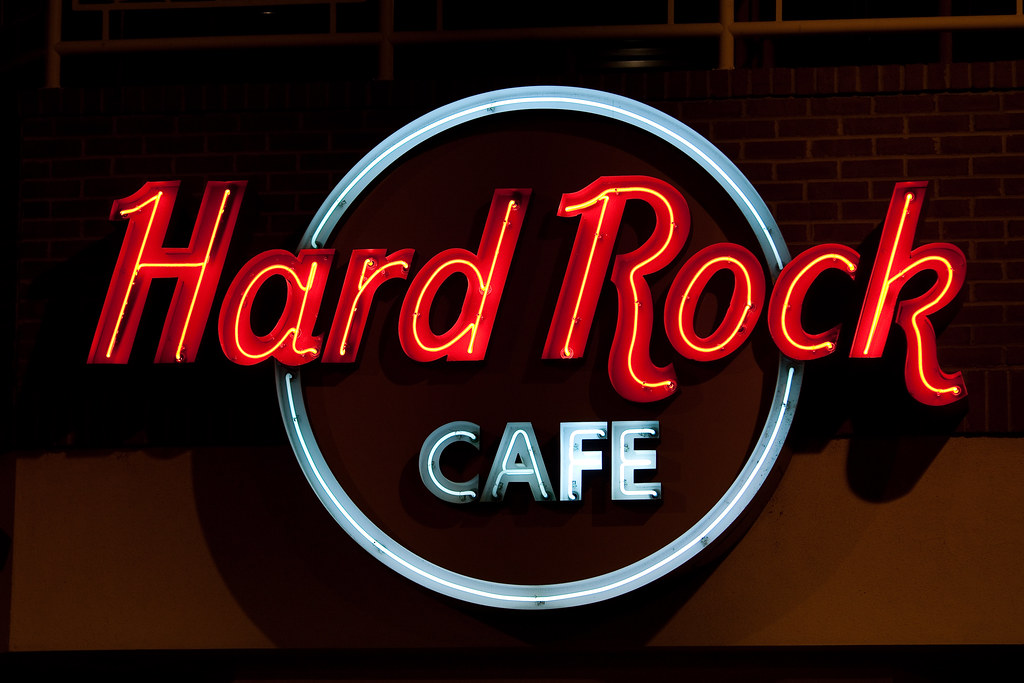 Hard Rock Cafe Hoodie Two Toned