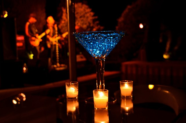 Lighted martini glass centerpiece flickr photo sharing