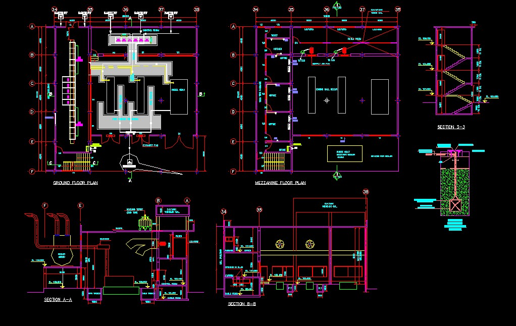 electrical design drawing  u0026 civil layout plan for commerci