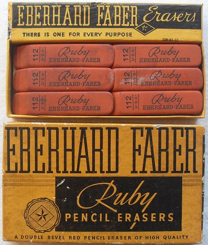 1940s Vintage Eberhard Faber Ruby Eraser Box | by Christian Montone