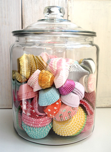 Jar of Cupcake Cases | by such pretty things